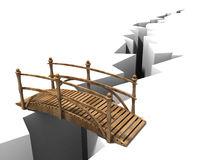 Brücke über Abgrund Lizenzfreie Stockfotografie.