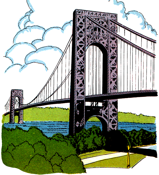 Kostenlose Illustration: Brücke, Jahrgang, Clipart, Farbe.
