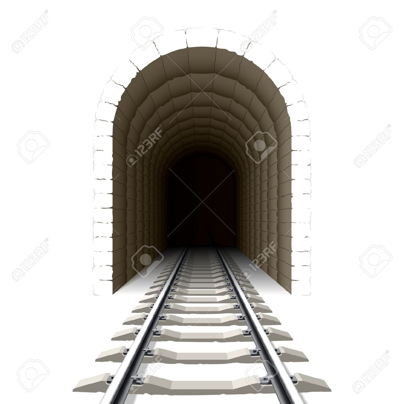 Train tunnel clipart.