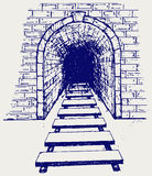 Train Tunnel Stock Illustrations.