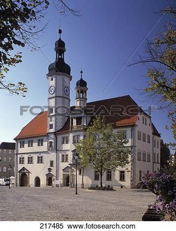 Stock Image of Facade of town hall, Eisenberg, Thuringia, Germany.