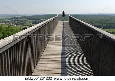 Stock Photo of Viewing platform, observation deck Weinblick.