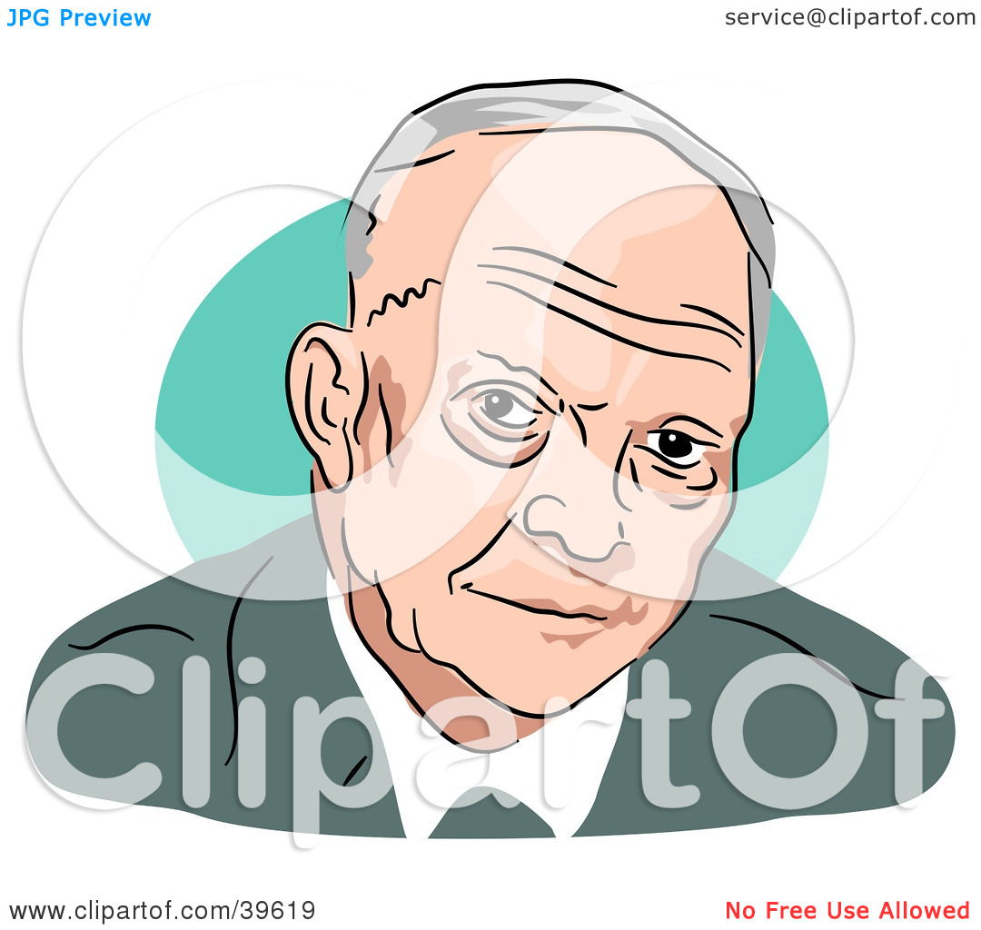 Clipart Illustration of American President Dwight Eisenhower by.