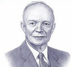 Clipart of President Dwight D. Eisenhower.