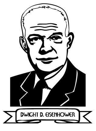 Dwight D Eisenhower Clip Art.