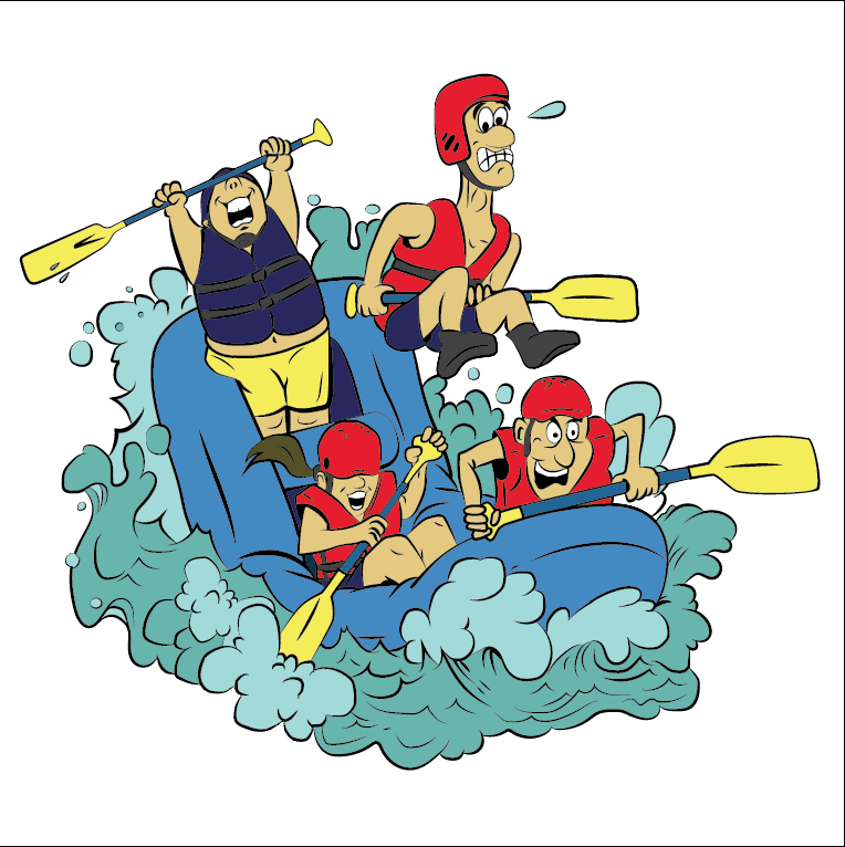 Design I made and colored based off of some whitewater clipart I.