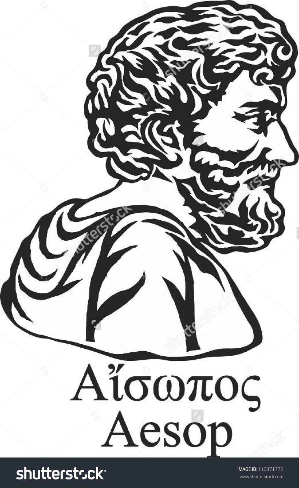 Ancient Greek Fabulist Story Teller Aesop Stock Vector 110371775.