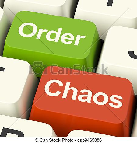Stock Illustration of Order Or Chaos Keys Showing Either Organized.