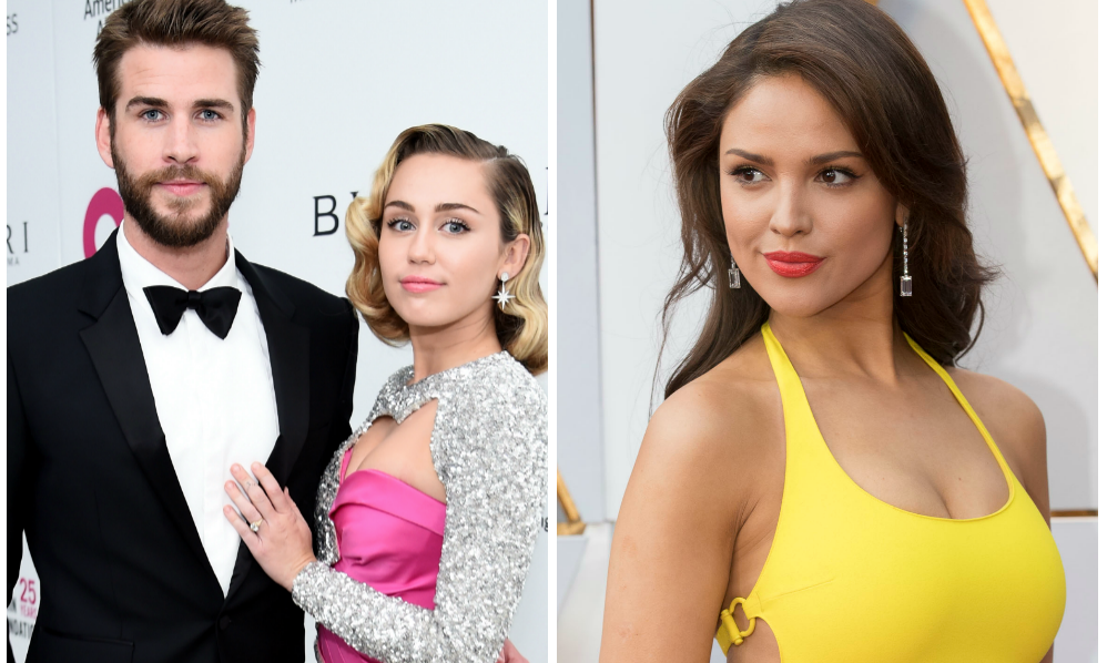 Miley Cyrus and Liam Hemsworth Narrowly Avoid His Ex Eiza Gonzalez.