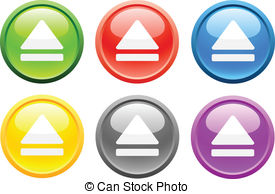 Eject Vector Clipart Royalty Free. 867 Eject clip art vector EPS.