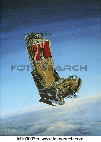 Drawings of Acrylic painting of the Martin Baker ejection seat.