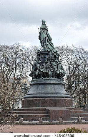 Monument To Empress Catherine Stock Photos, Royalty.