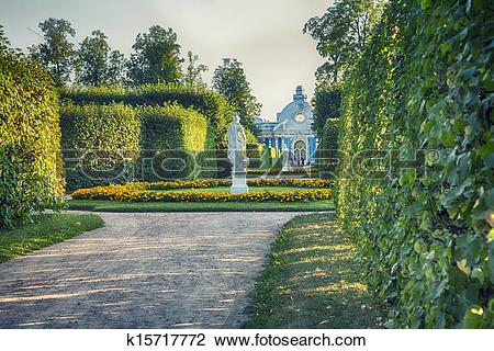 Stock Photo of evening in classic park k15717772.