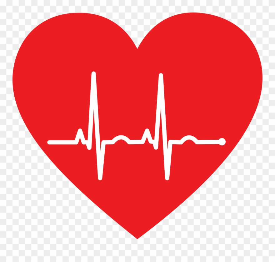 Free Clipart Of A Heart With An Ekg.