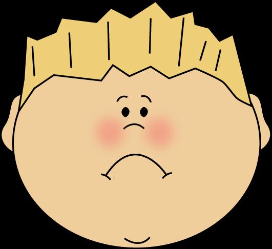 Sad Faces Emotions Clipart.