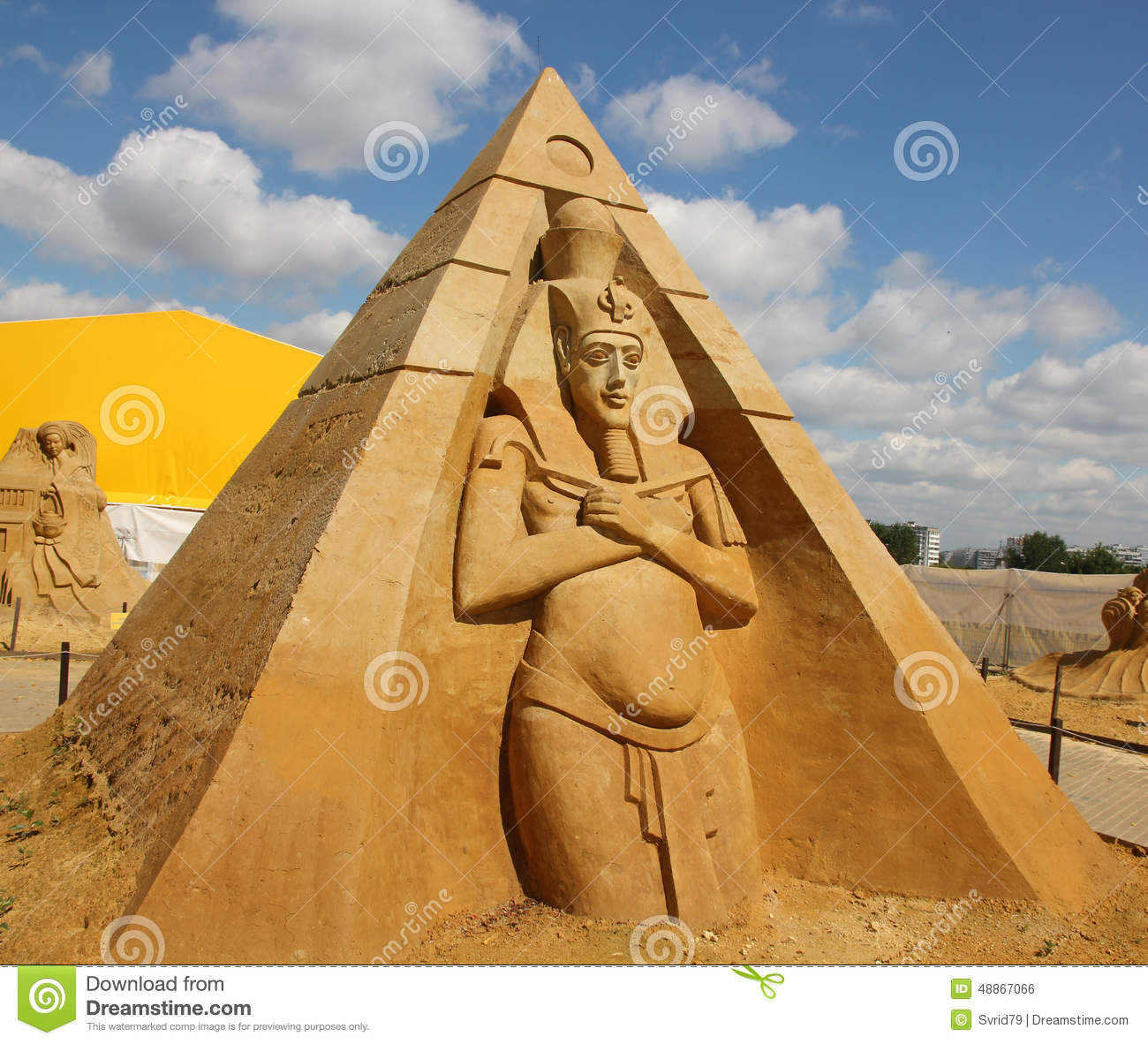 The Pharaoh Akhenaten Stock Photo.