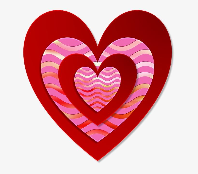San Valentín, El Amor, Corazón, Rojo, Rosa, Ondulado.