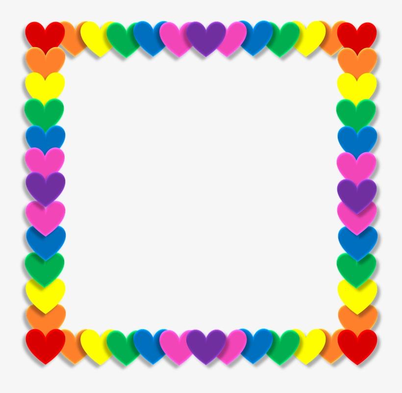 San Valentín, Corazón, El Amor, Marco, Arco Iris, Color.
