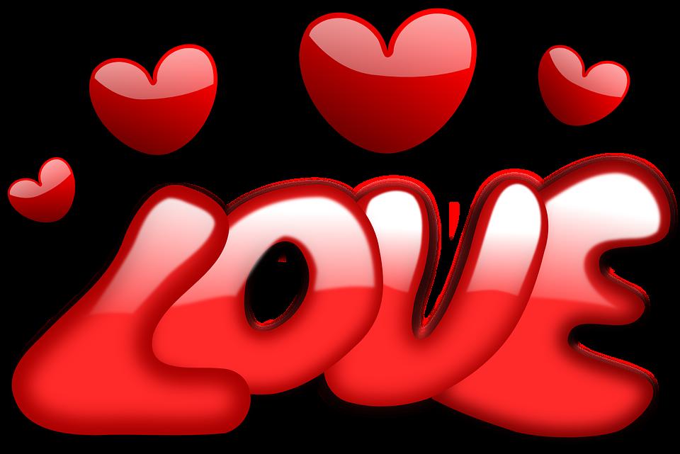 El Amor Corazones San Valentín.