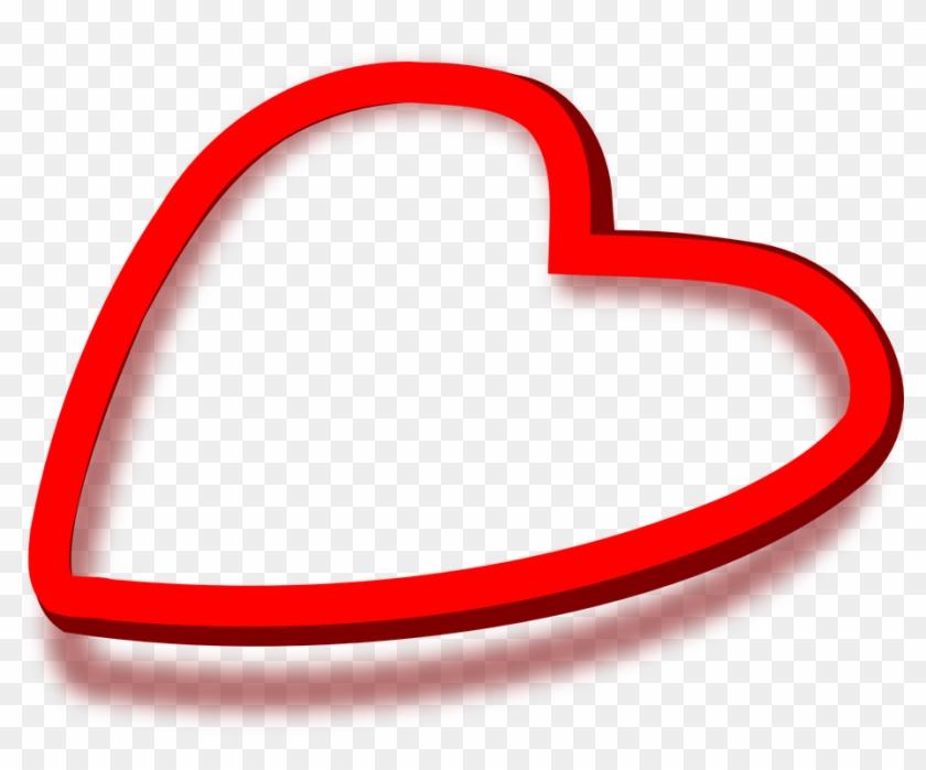 Corazón Rojo Sombra El Amor San Valentín.
