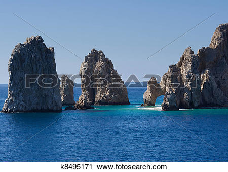 Stock Photography of Rock formations including El Arco k8495171.