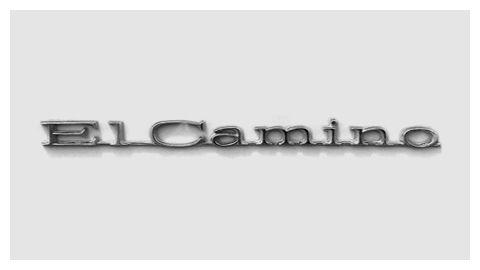 Chevrolet El Camino 1970 chrome script emblem.