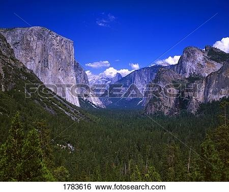 Stock Images of Yosemite Valley, with El Capitan, left, Yosemite.