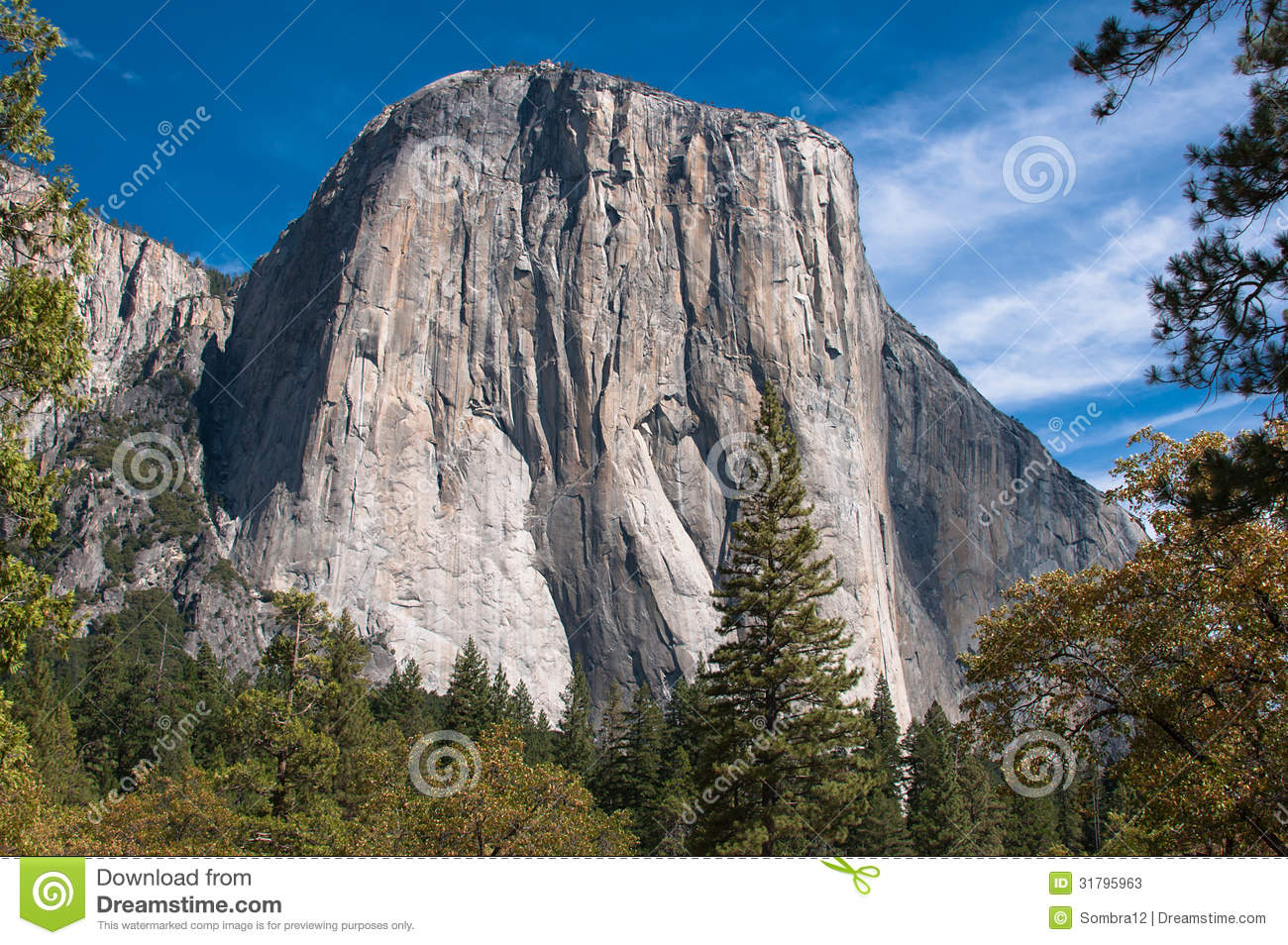 El Capitan, A Rock In Yosemite National Park Stock Photos.
