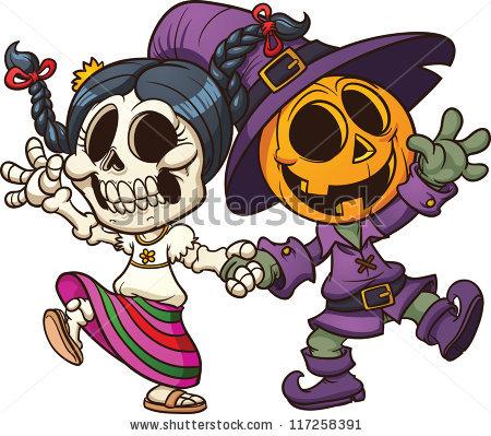 """Conjunto de """"Halloween Creatures"""" de Memo Angeles en Shutterstock.."""