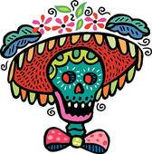 Day Of The Dead Art Free Clip Art.
