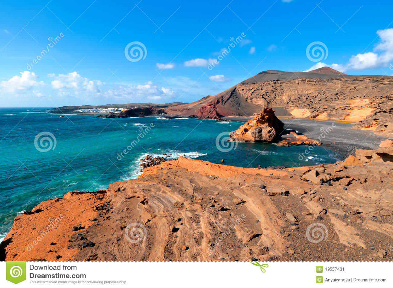 El Golfo Lanzarote Royalty Free Stock Photos.