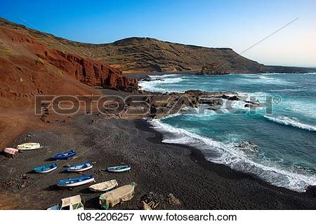 Picture of canary islands,lanzarote : El Golfo. t08.
