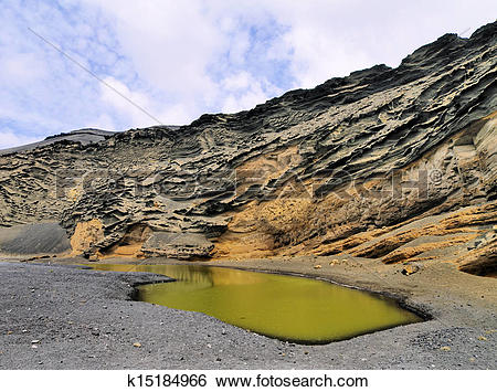 Stock Images of El Golfo, Lanzarote k15184966.