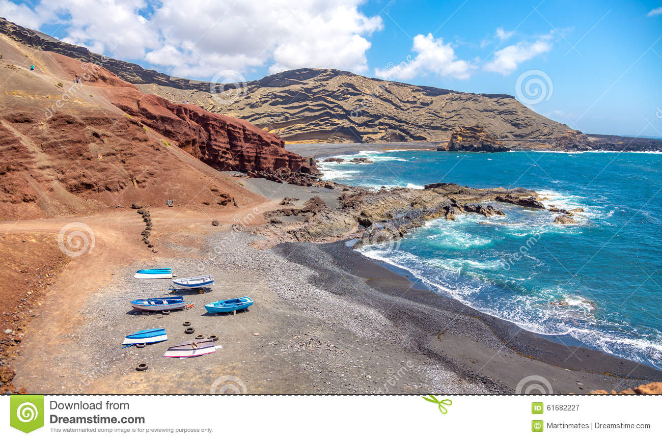 El Golfo Beach Stock Photo.