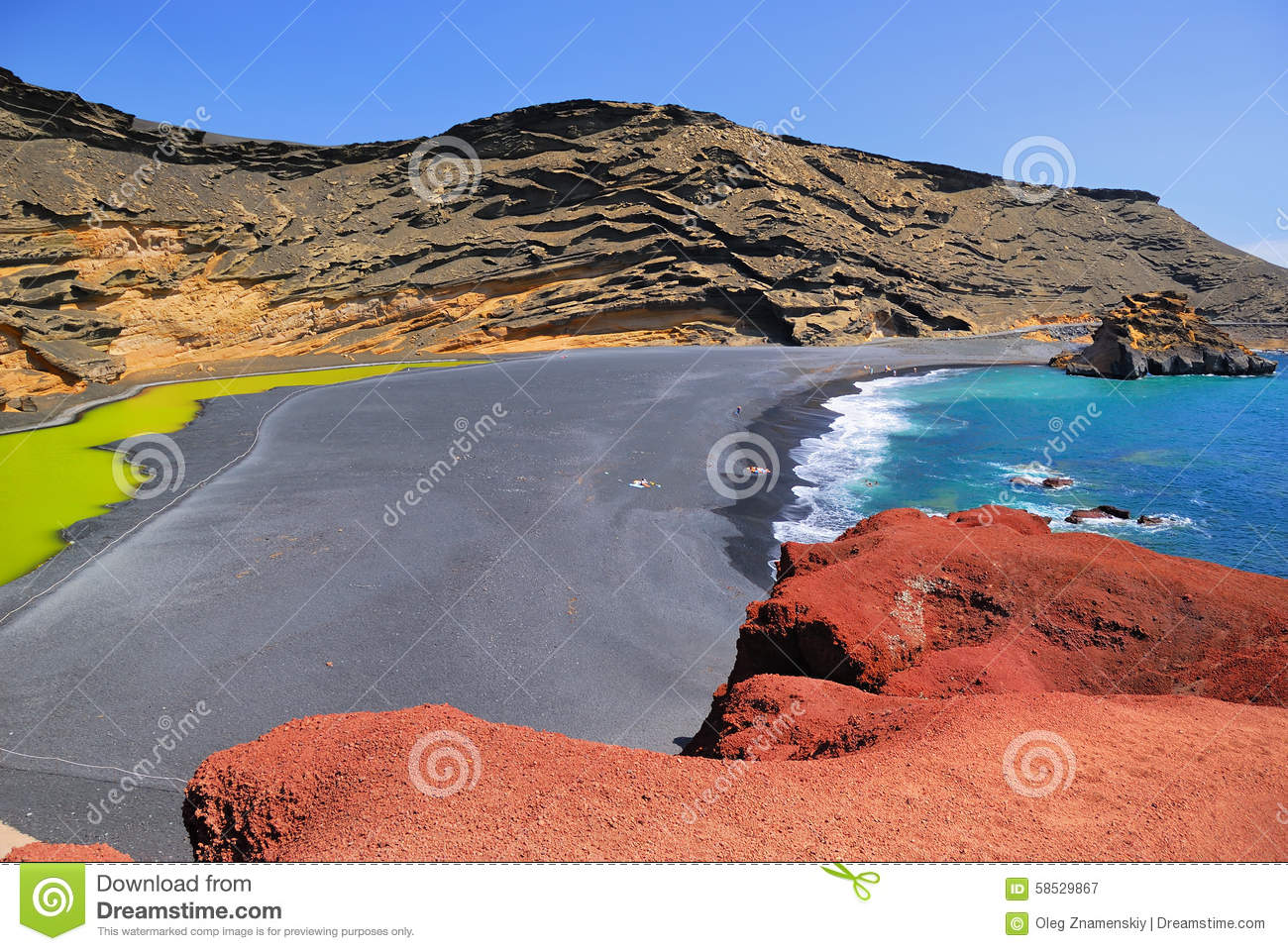 El Golfo, Lanzarote, Spain Stock Photo.
