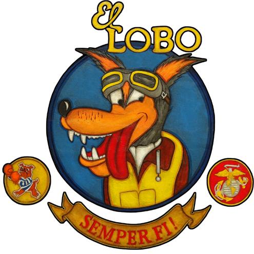 El Lobo Nose Art Garment Bag.