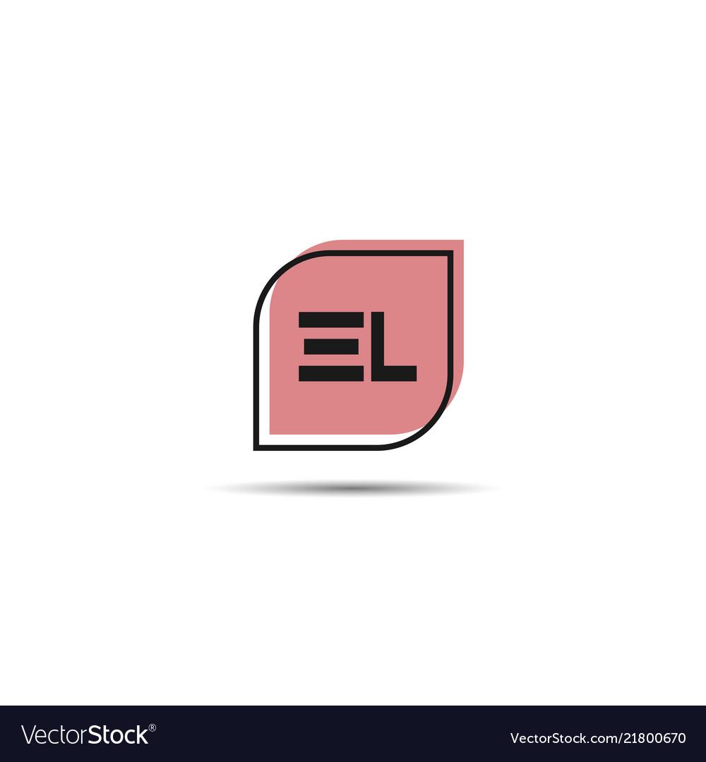 Initial letter el logo template design.