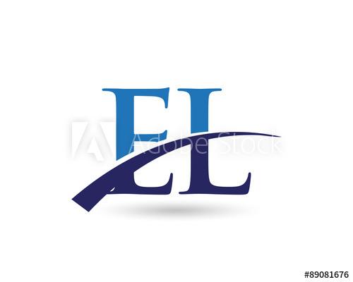 EL Logo Letter Swoosh.