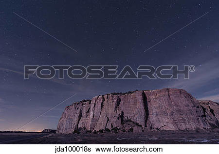 Stock Images of Big Dipper over the large mesa in El Malpais.