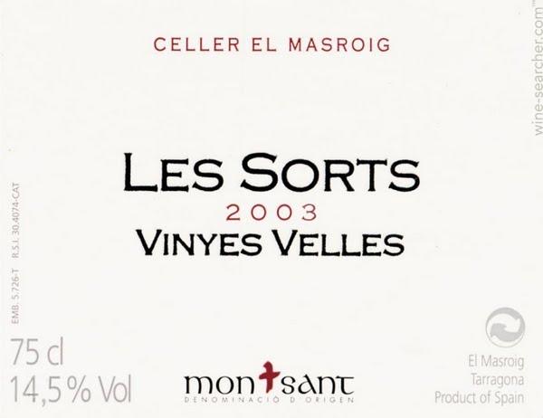 Celler El Masroig Les Sorts Vinyes Velles, Montsant, Spain: prices.