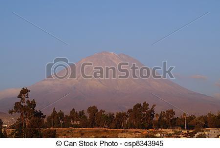 Stock Images of Volcano Misti in Peru.