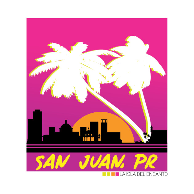 San Juan Puerto Rico El Morro Skyline T Shirt.