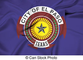 Clipart of Waving Flag of El Paso, Texas csp36659518.