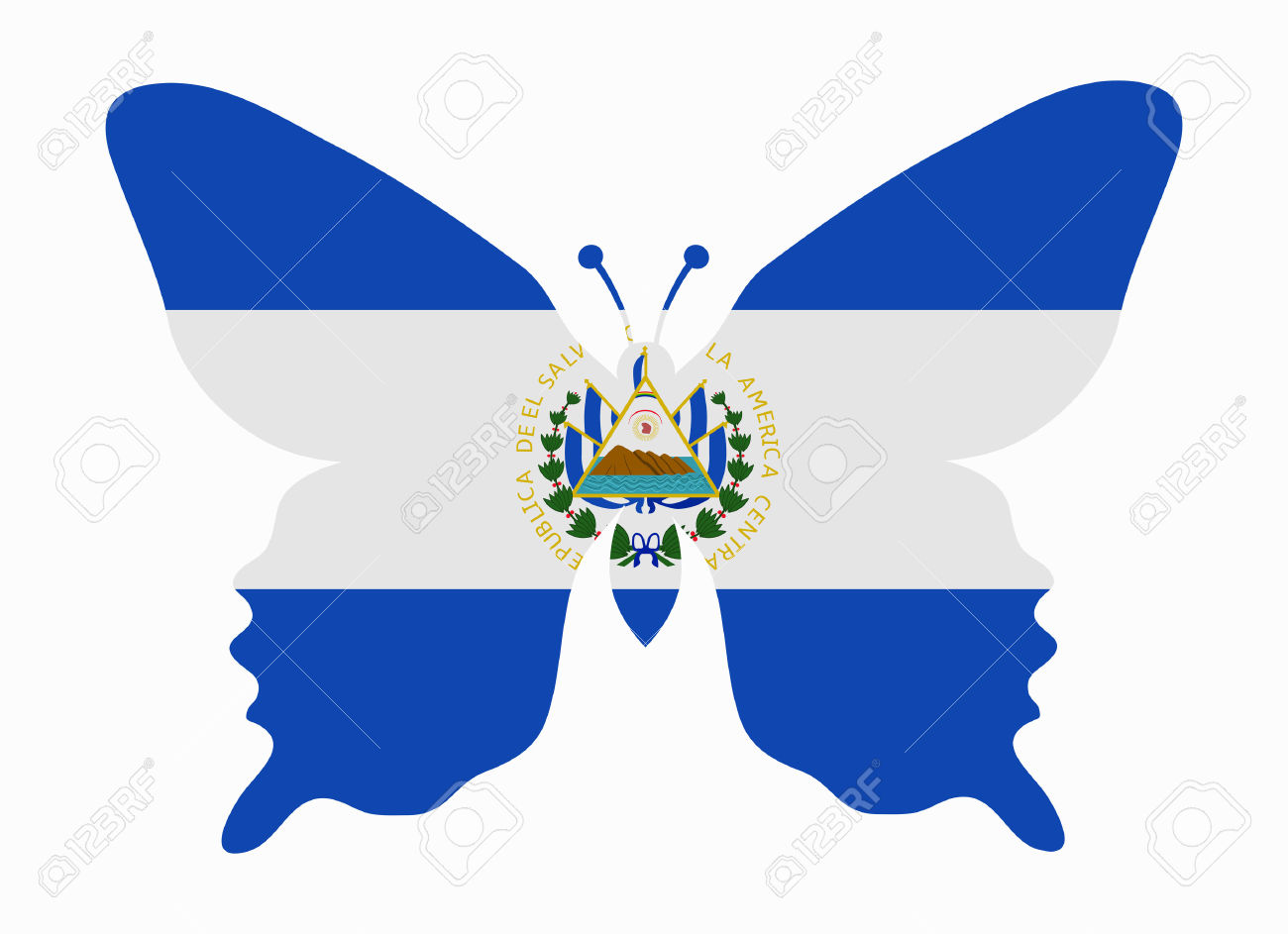 1,347 Salvador Flag Stock Vector Illustration And Royalty Free.