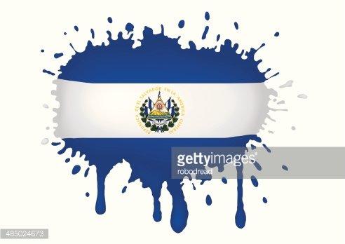 El Salvador Flag Sketches premium clipart.