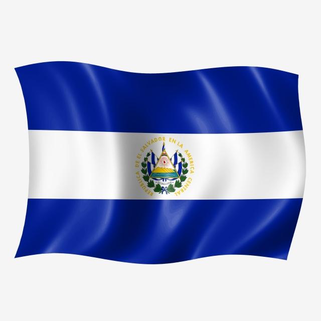 El Salvador Waving Flag, Flying Flag, Flying, Wave PNG Transparent.