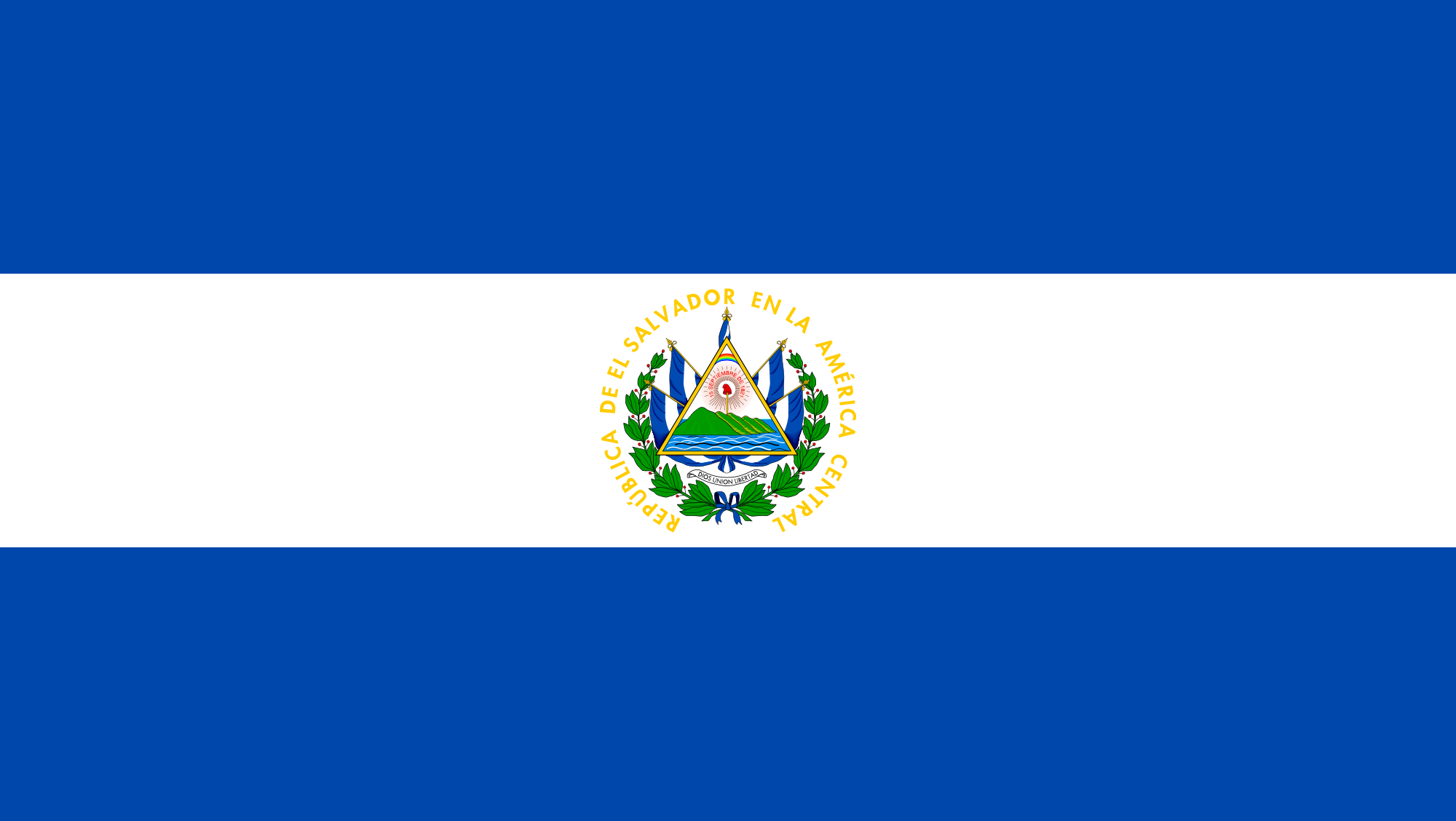 Flag of El Salvador.