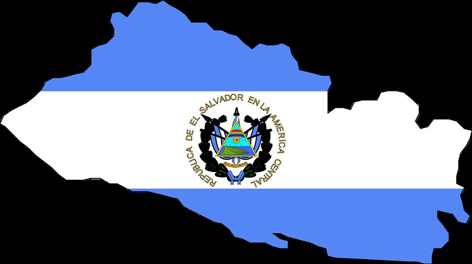 El Salvador Flag Map.