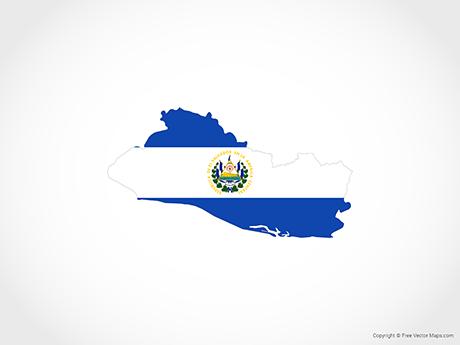 Vector Map of El Salvador.