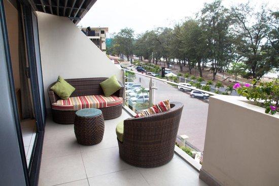 Premier Suite Balcony over looks Ela Beach.